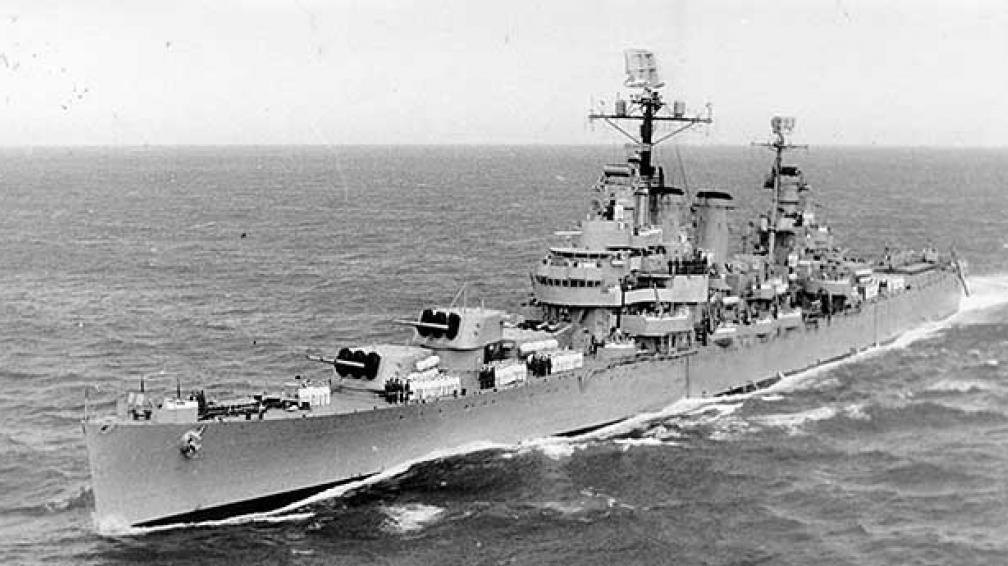 Imagen del crucero General Belgrano, hundido por Inglaterra en la guerra de Malvinas de 1982.