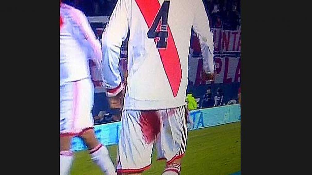 Así jugó Ponzio todo el segundo tiempo ante Boca Unidos (Foto: captura de tv).