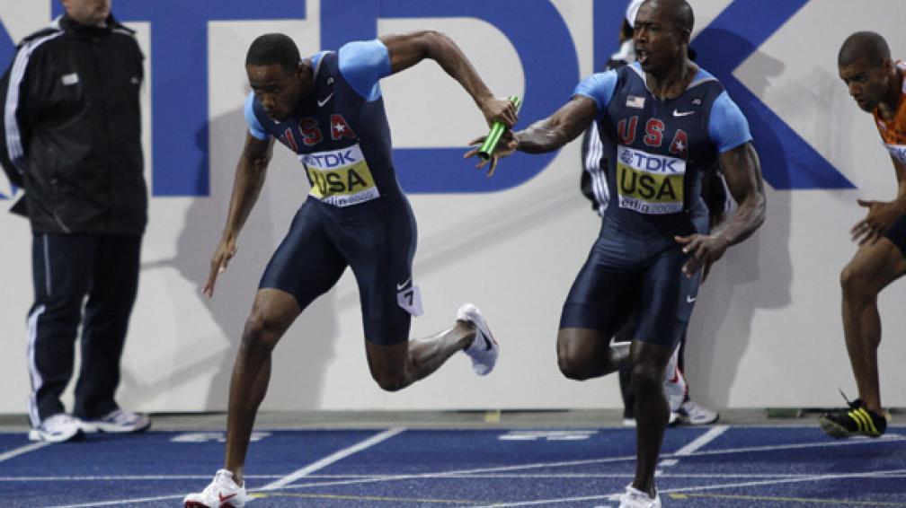 La posta estadounidense repitió el mal pasado de los Juegos Olímpicos de Beijing y volvió a quedar descalificado de la prueba. Kerron Stewart fue la encargada de cruzar la meta.
