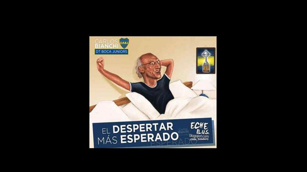 Los hinchas de Boca celebran la llegada de Carlos Bianchi con ingeniosos afiches.
