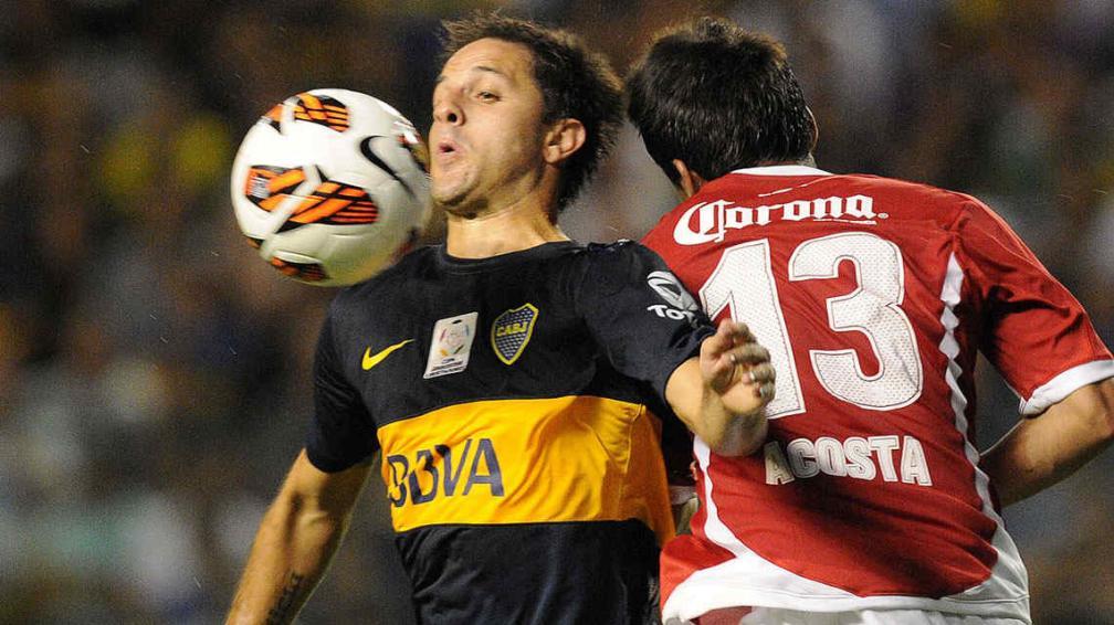 Martínez se movió por todo el frente de ataque de Boca (Foto: Fotobaires).