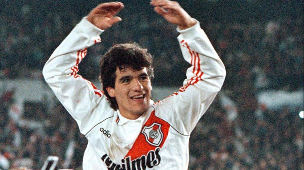 Ortega, el 26 de junio de 1996, cuando River salió campeón de América (Foto: La Voz / Archivo).