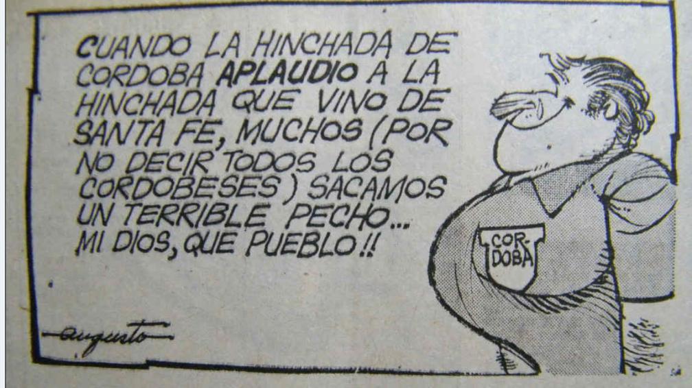 La Voz reflejó en 1976 lo ocurrido entre los hinchas cordobeses y santafesinos (Foto: Archivo / La Voz).