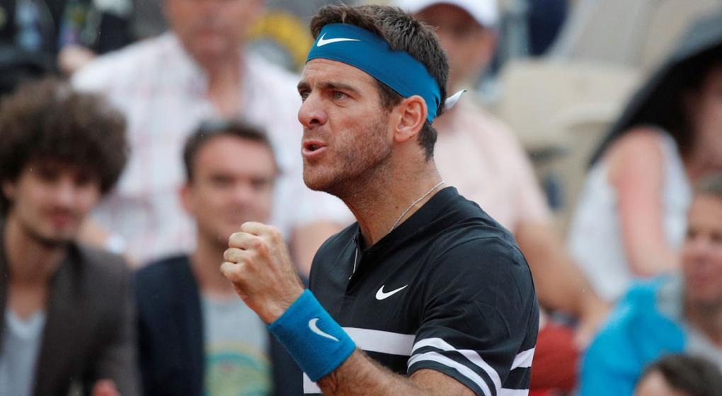 Roland Garros: Del Potro ganó sin problemas y avanzó a cuartos de final