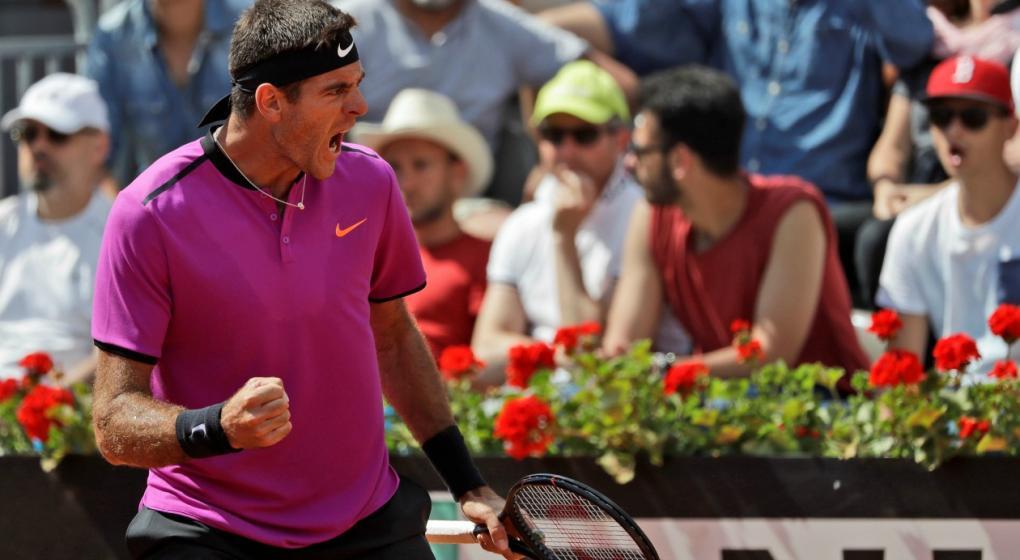 Del Potro cayó ante Djokovic