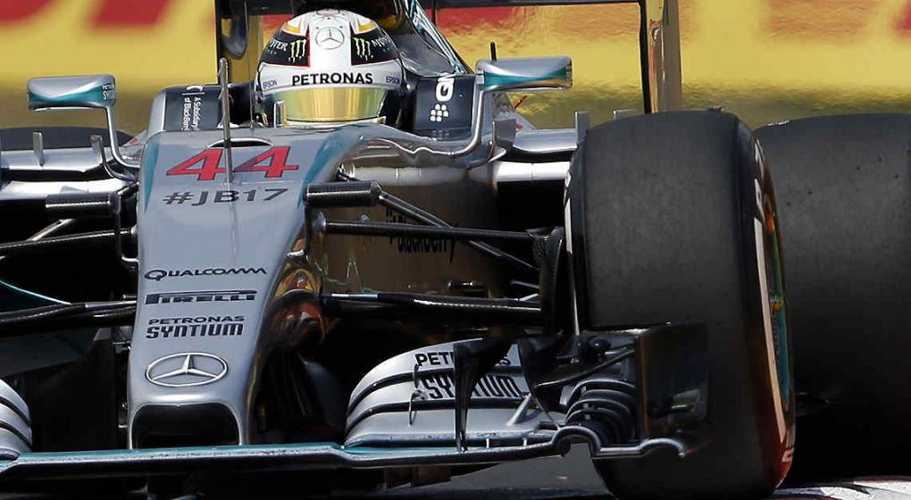 F1: Hamilton marcó por quinta vez consecutiva la pole; esta vez, en ...
