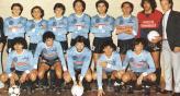 Maradona con la camiseta de Belgrano en 1986.