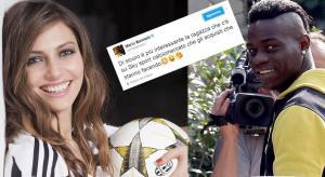 """Balotelli y una queja que terminó en un """"centro"""" para una presentadora"""