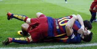 Messi marcó el empate parcial para el Barcelona. (Foto: AP)