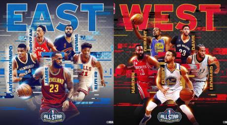Acá están, estos son: los quintentos del All Star de la NBA