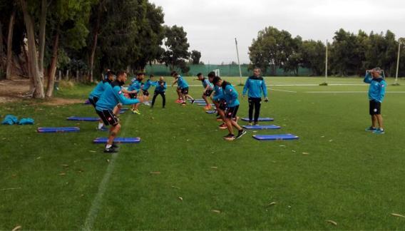 Belgrano se prepara en Chile. (Foto: gentileza Leo Rivadero)