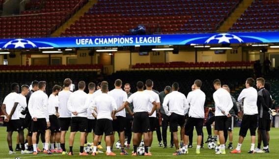 Juventus trabajó en el campo donde este sábado jugará la final. (Prensa Juventus)