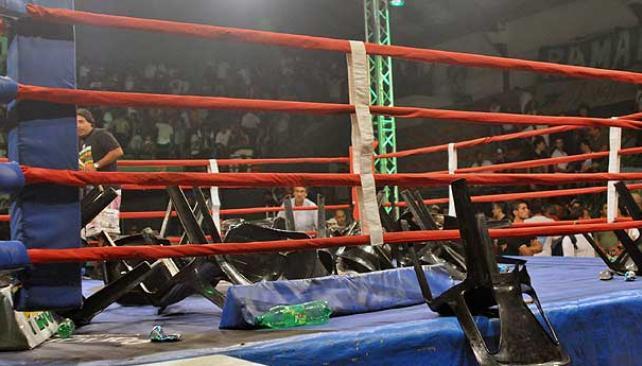 Lazarte y una pelea polémica (Foto: Télam).