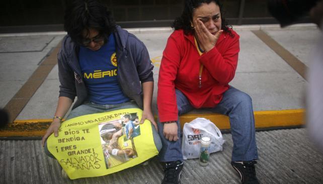 Hinchas del América de México lloran al ídolo (Foto: AP)