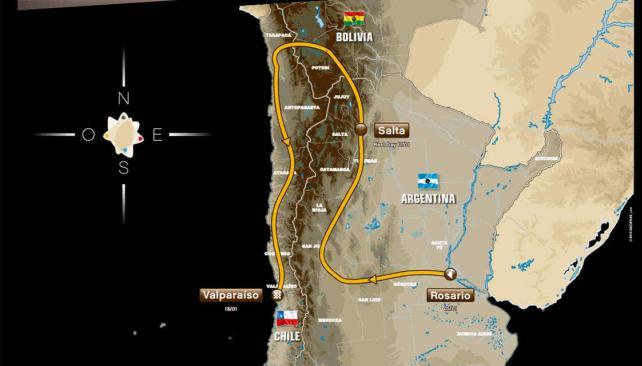 Este es el recorrido del Dakar para 2014 (Foto: Captura www.dakar.com)
