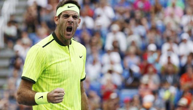 Del Potro avanzó a cuartos de final en el US Open (Foto: AP).