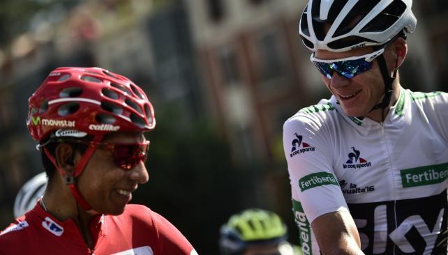 Chris Froome gana la crono de Calpe Quintana mantiene el maillot rojo