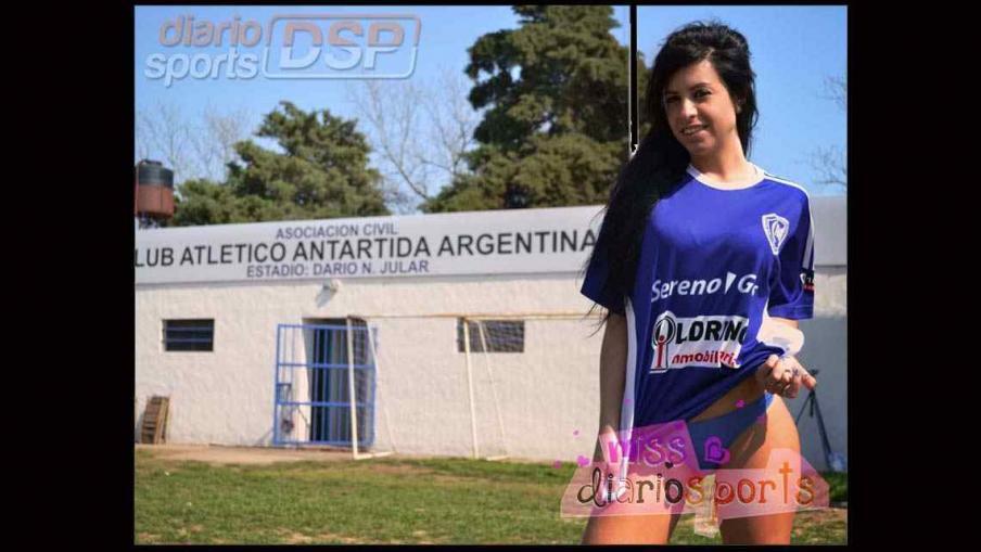 Cari Ferrero, la diosa de Antártida Argentina (Foto: www.diariosports.com.ar)